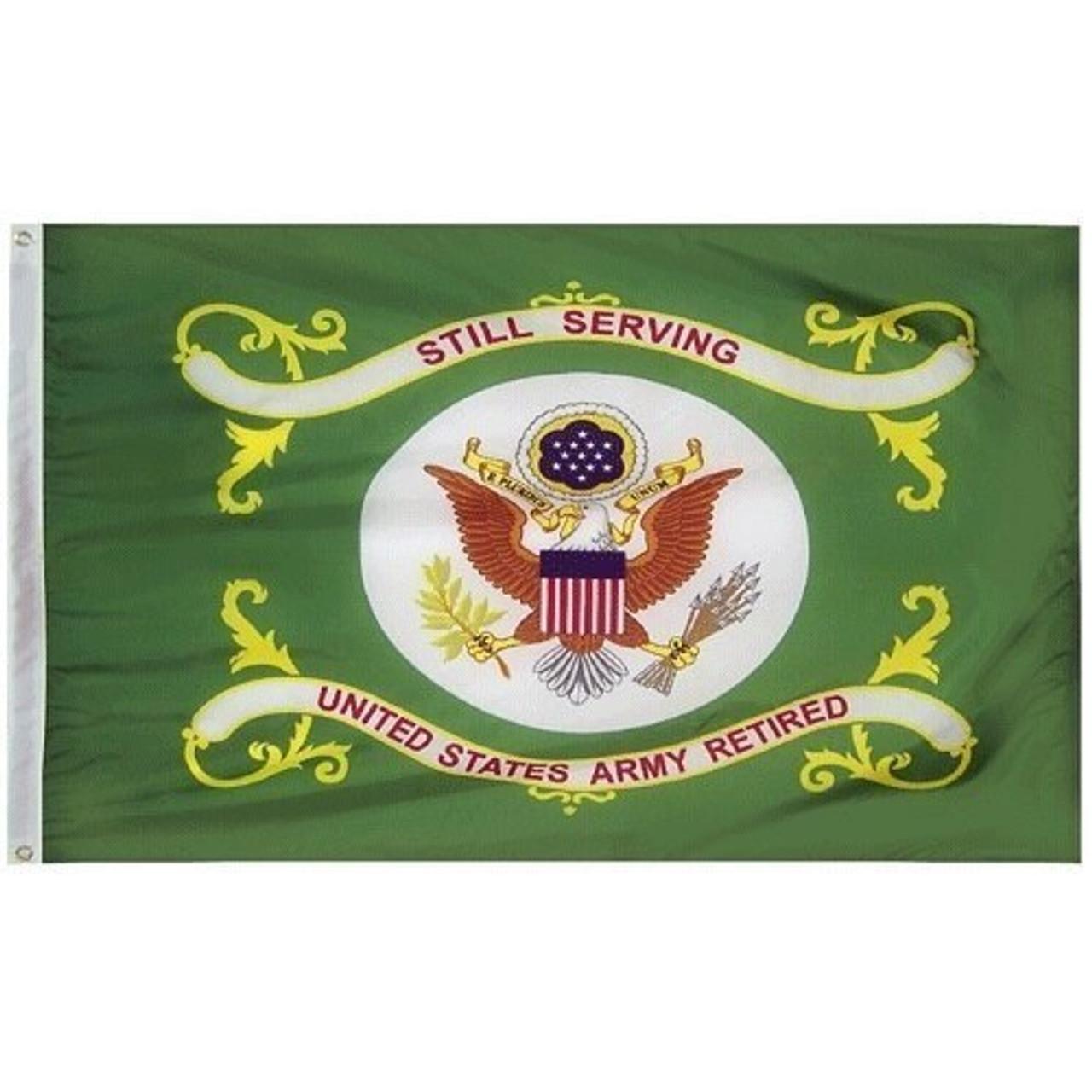 Army Retired Flag