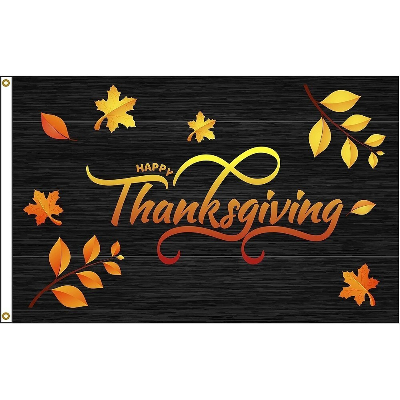 Thanksgiving Leaves Flag