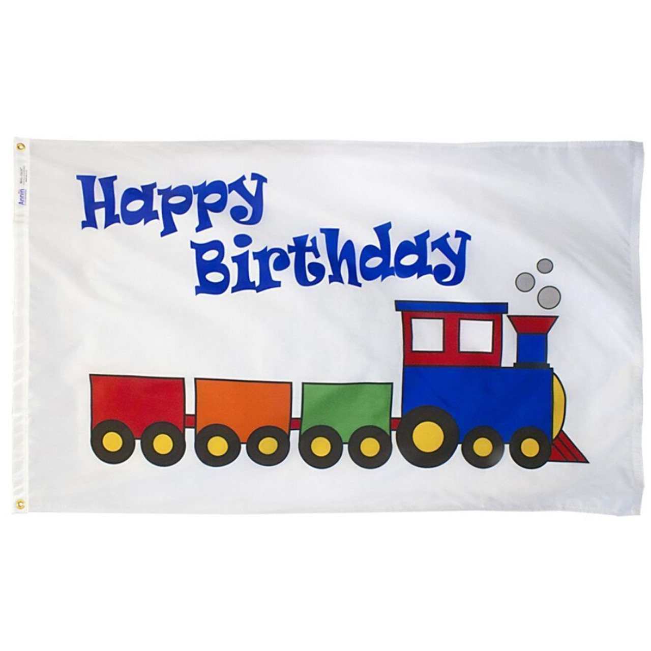 Happy Birthday Train Flag