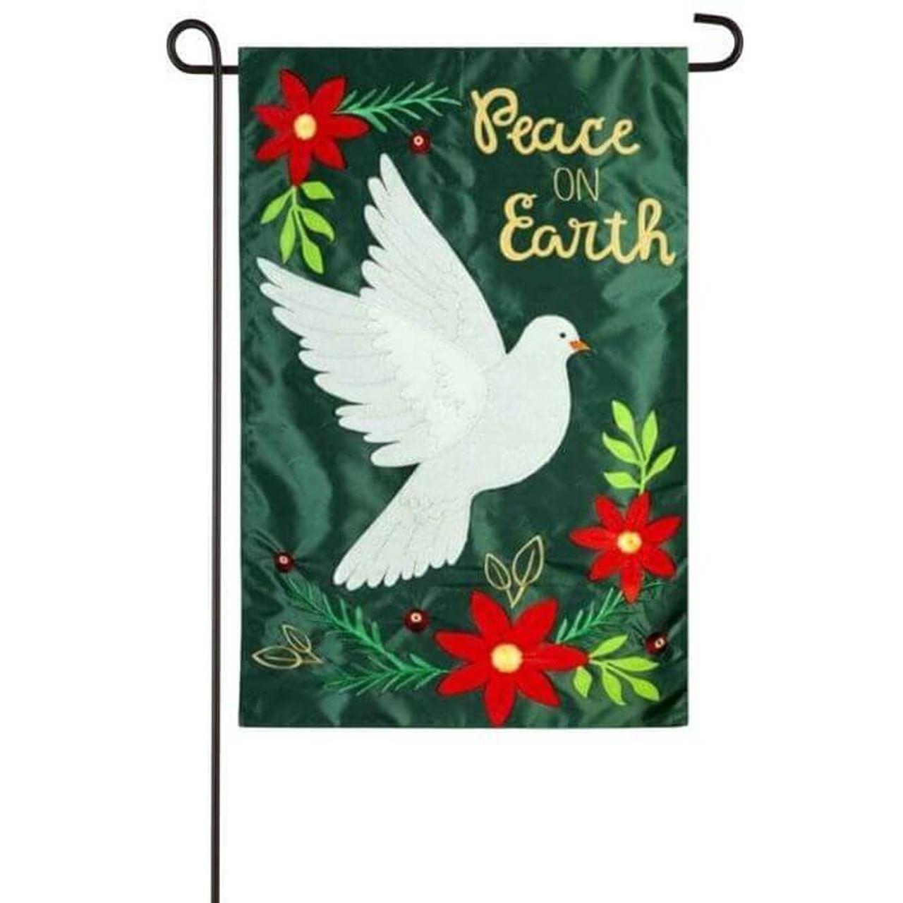 Peace Dove Garden Flag