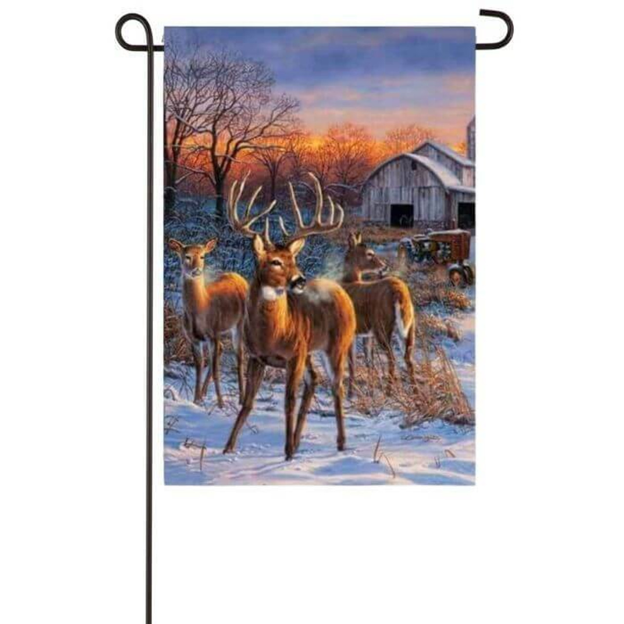 Deer Glory Garden Flag
