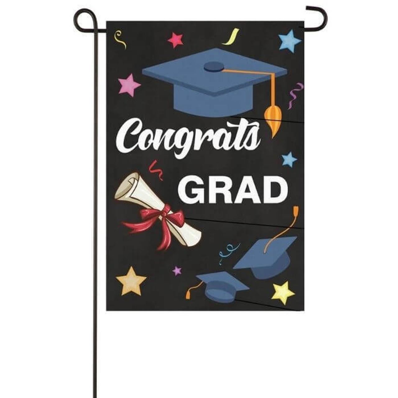 Congrats Grad Garden Flag