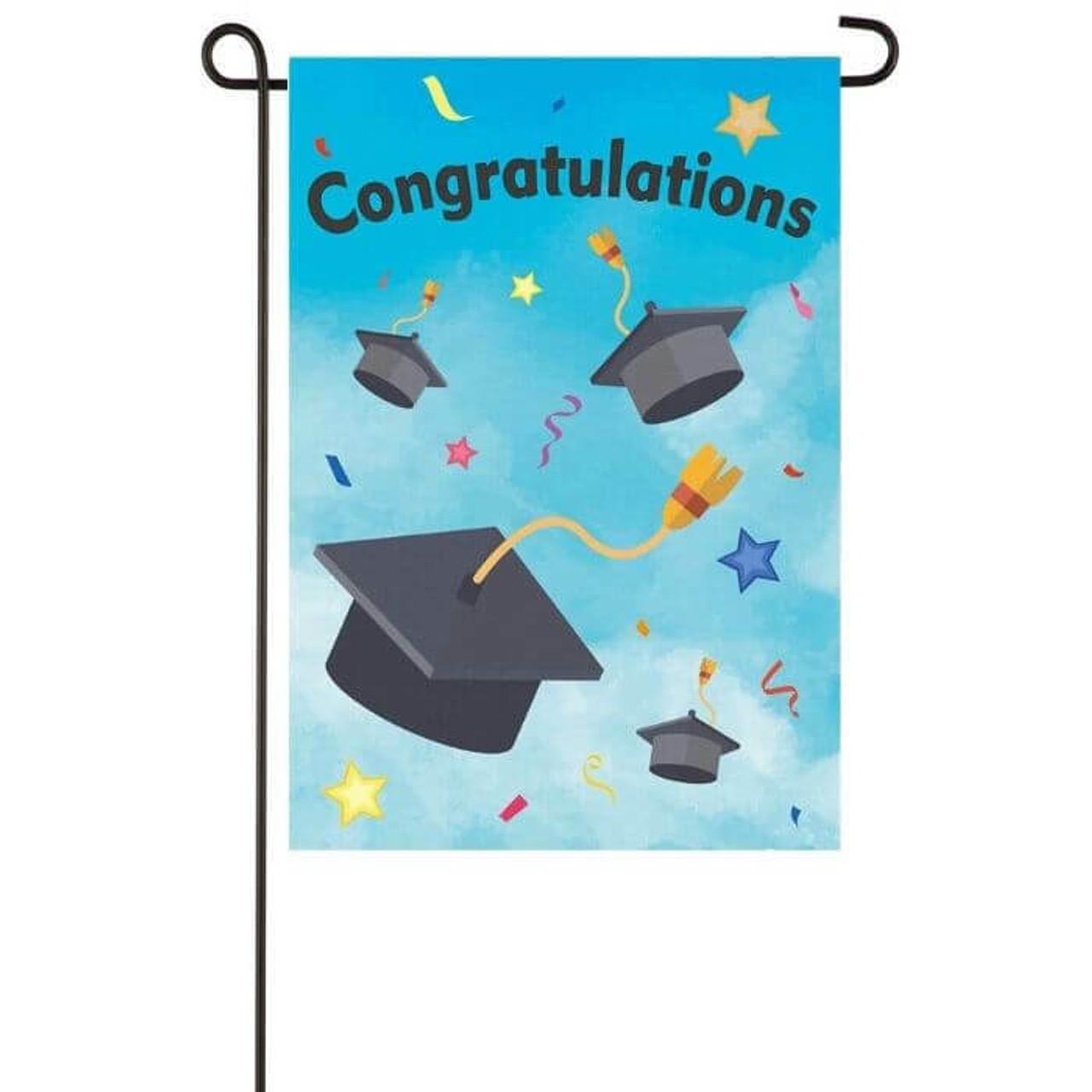 Congratulation Garden Flag for Graduates
