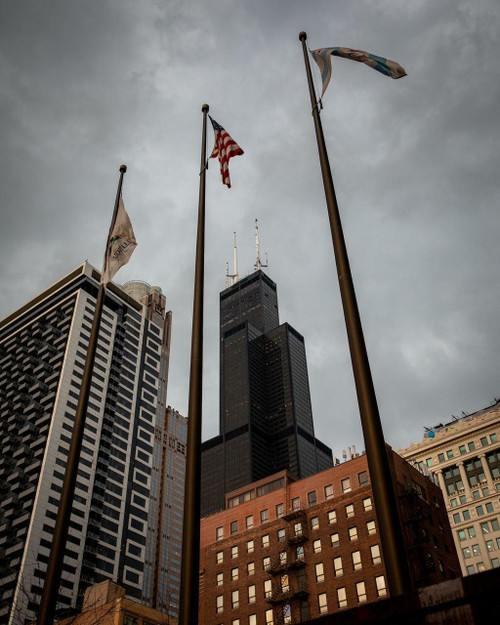 A photo of a 20 ft. bronze flagpole submitted by Walter T.