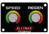 Alltrax FN-DM-K2 Performance Knob Dash Mount Panel - XCT (Speed & Regen)