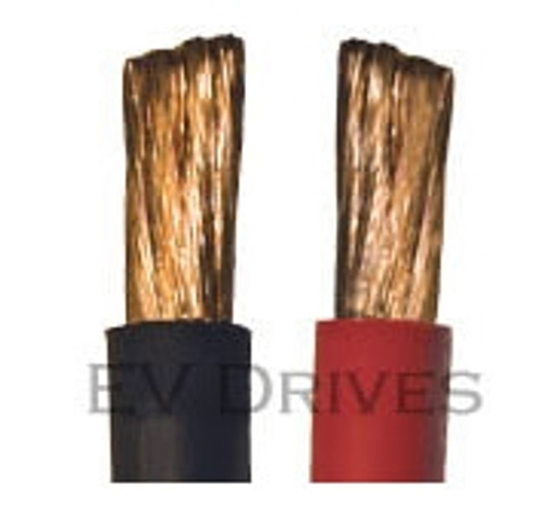 Welding Cable 4 AWG, Black & Red - Sold by the Foot