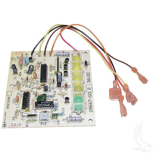 CHARGER BOARD, CONTROL WITH LEDs, FOR EZGO POWERWISE 1994-UP