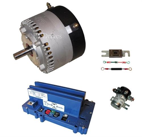 Conversion Kit - Motenergy ME1602 Motor, Alltrax SR48400 Controller, Contactor & Accessories