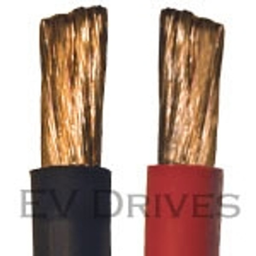 Welding Cable 1/0 AWG, Black & Red - Sold by the Foot