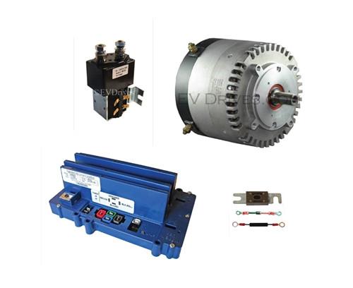 Conversion Kit - Motenergy ME0709 Motor, Alltrax SR72300 Controller, Contactor & Accessories