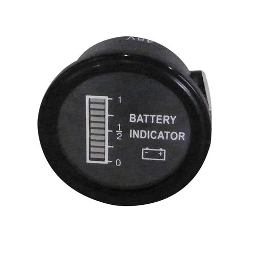 Round Digital Charge Meter: 36 Volts
