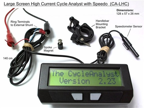 Cycle Analyst Meter - Speedometer, Watt & Amp Hours & More Functions