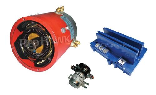 Golf Cart Upgrade Kit - Admiral MOT-B2 Motor, XCT48400 Controller & Accessories (For E-Z-Go PDS)