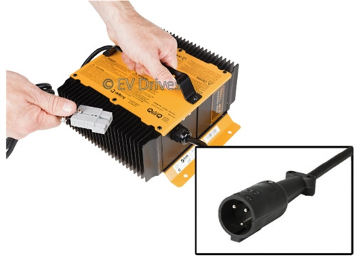 Delta-Q QuiQ Off-Board 48V Battery Charger 913-4800 with Club Car Round Connector for Carts without OBC