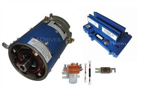 Speed And Torque Golf Cart Upgrade Kit - D&D ES-65-14 Motor, Alltrax XCT48400 IQ Controller & Accessories