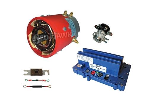 High Speed Golf Cart Upgrade Kit - Admiral MOT-A1 Motor, Alltrax SR48400 Controller & Accessories(For Club Car DS)