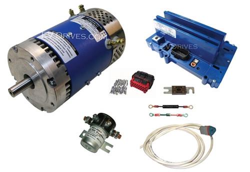 Conversion Kit - D&D ES-10E-33 Motor, XCT48400 Motor Controller & Accessories, 36-48V