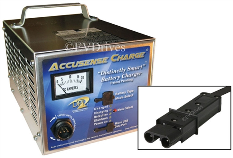DPI Golf Cart Charger 48V 17A with G19 / G22 Connector - Gen IV - Accusense Intelligent Charger