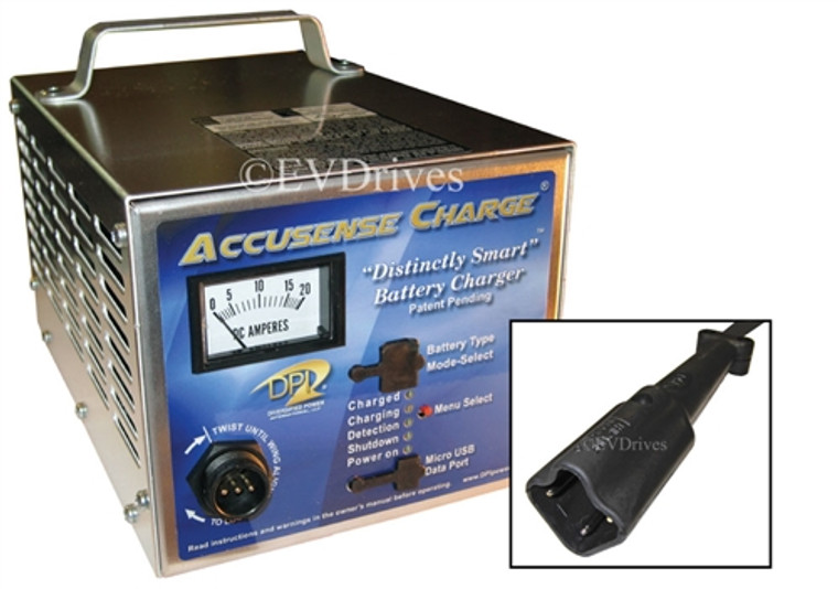 DPI Golf Cart Charger 48V 17A For Yamaha Drive Carts - 2007 to Present - Gen IV - Accusense Intelligent Charger
