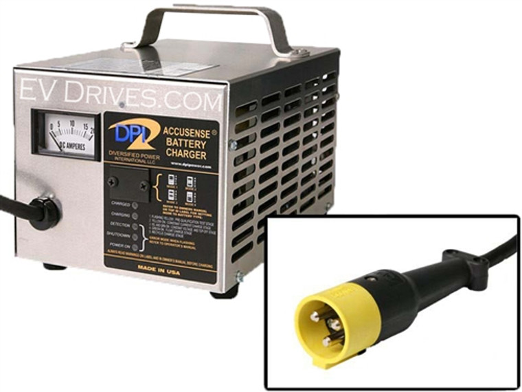 DPI Golf Cart Charger 36V 18A with StarCar Round Connector - Accusense Intelligent Charger
