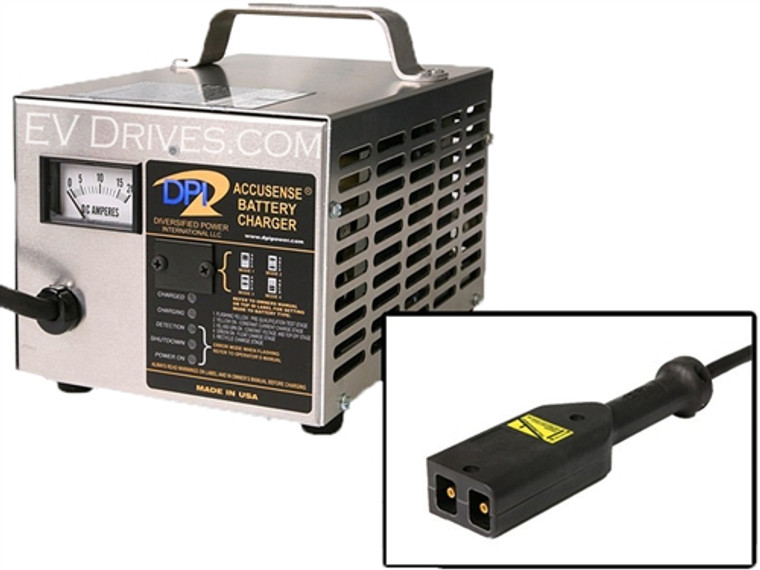DPI Golf Cart Charger 42V 17A with EZ-Go TXT (PowerWise D-Style) Connector - Accusense Intelligent Charger