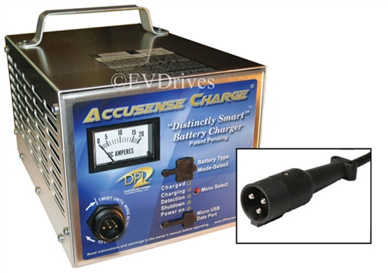 DPI Golf Cart Charger 48V 17A with StarCar Round Connector - Gen IV - Accusense Intelligent Charger