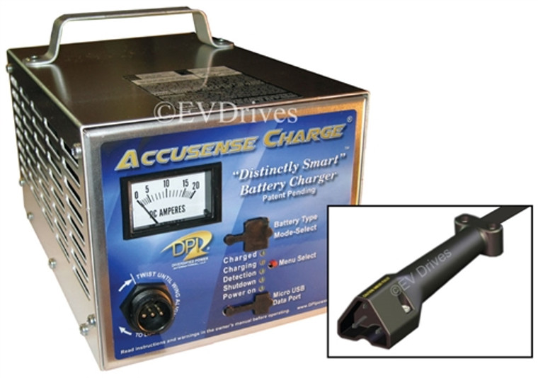 DPI Golf Cart Charger 48V 17A with EZGO TXT48 Connector - Accusense Intelligent Charger