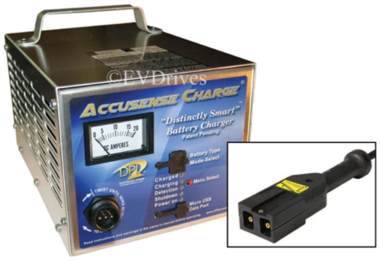 DPI Golf Cart Charger 48V 17A with Rect-Notch Connector - Gen IV - Accusense Intelligent Charger