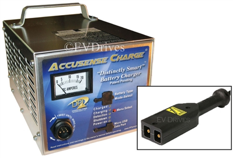 DPI Golf Cart Charger 36V 18A with EZ-Go TXT (PowerWise D-Style) Connector  - Gen IV - Accusense Intelligent Charger