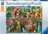 RAVENSBURGER - CATS ON THE SHELF PUZZLE 500 PCE