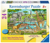 RAVENSBURGER - WATERING HOLE DELIGHT SUPERSIZE PUZZLE