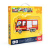4 Puzzles In 1 Box - Firemen