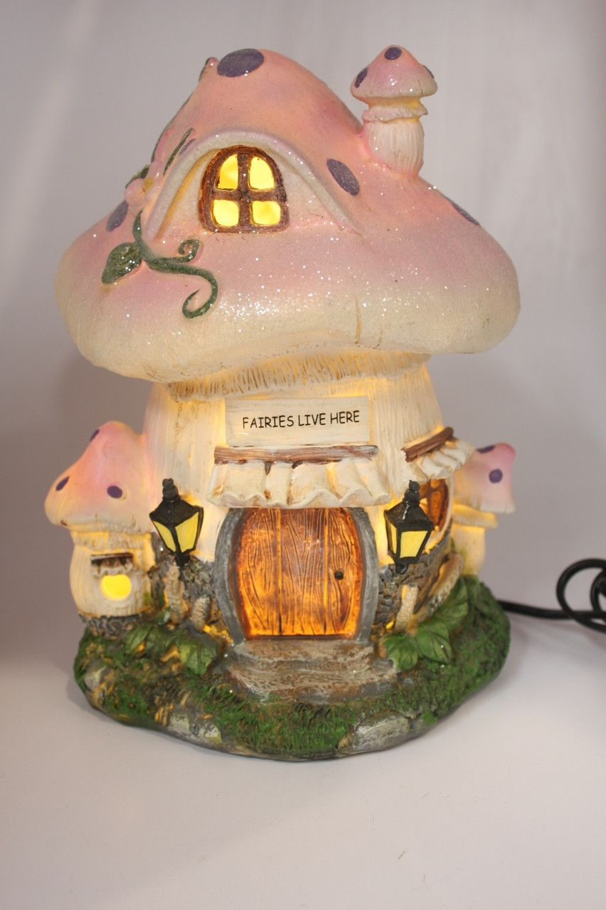 FAIRY HOUSE NIGHT LIGHT - FAIRIES LIVE HERE
