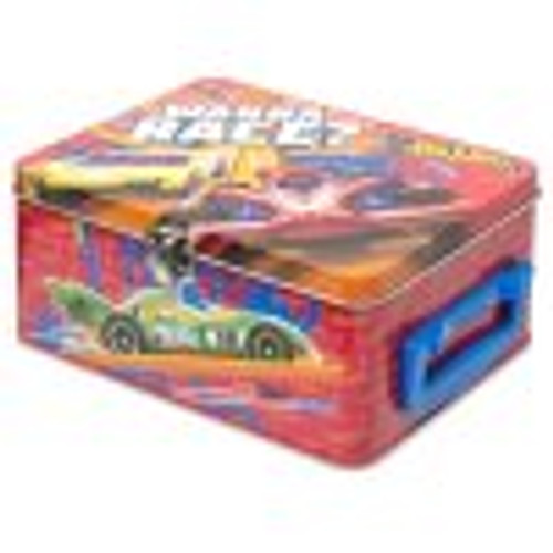 HOT WHEELS TIN CARRY CASE 18PC RED