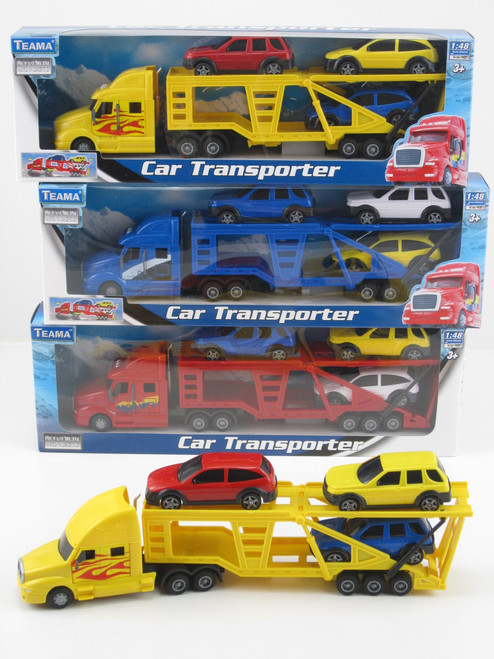 Car Transporter With 3 Cars - Blue