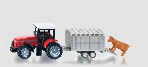 SIKU  TRACTOR WITH STOCK TRAILER