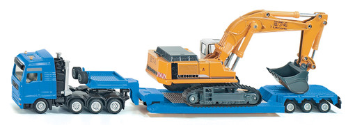 SIKU  HAULAGE TRANSPORTER WITH TRAILER  1:87 SCALE