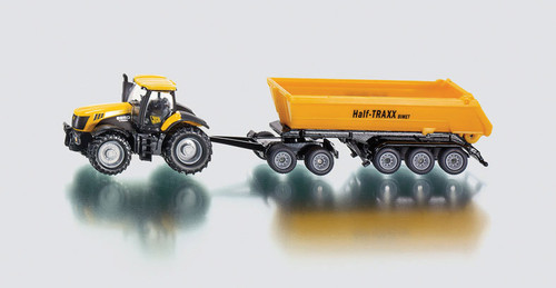 Siku  tractor with dolly & tipping trailer  1:87 scale