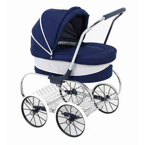 Princess doll pram - navy