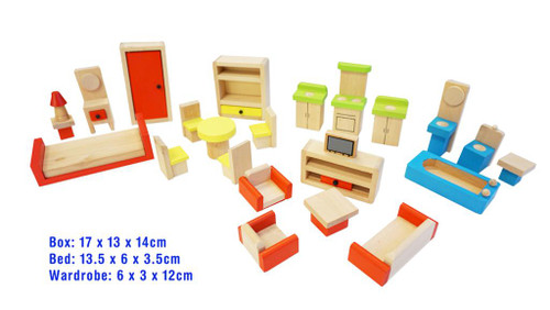 Doll house furniture 26pc