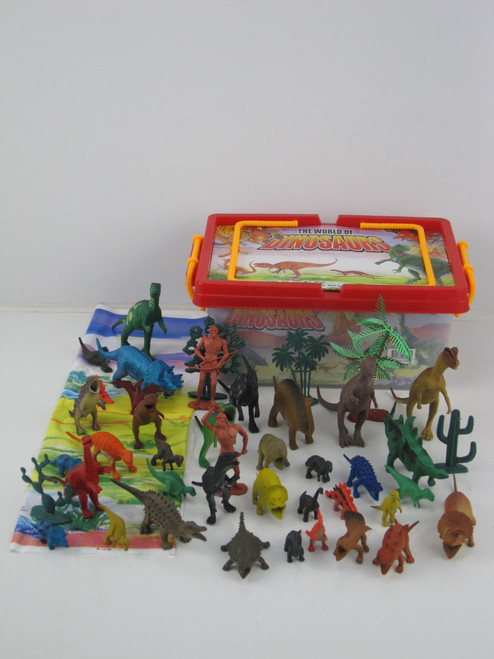 Carry Box Of Dinosaurs