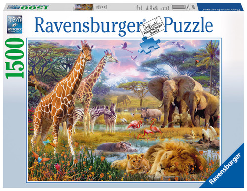 RAVENSBURGER - AFRICAN WILD LIFE PUZZLE 1500 PCE