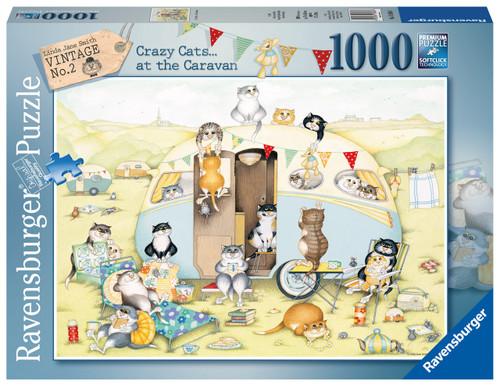 RAVANSGURGER - CRAZY CATS CARAVAN 1000PCE PUZZLE