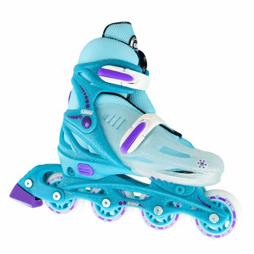 148 Adjustable Inline Skates - Teal Glitter Ice Medium (2-5)