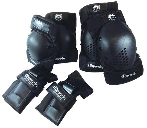 Skate Protection 6 Pce Set - Large Black