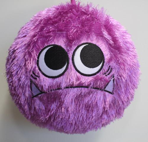 Fuzzy Ball Purple Monster