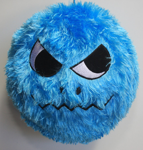 Fuzzy Ball Blue Angry
