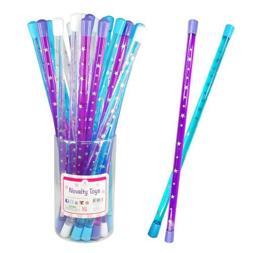 Star water glittery wand