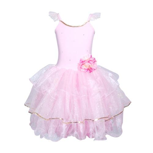 Peony flower fairy dress size 3/4 pale pink