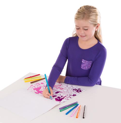 M&d foil colouring pad - playtime favourites